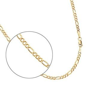 14k Yellow Gold 2.6mm Figaro Chain